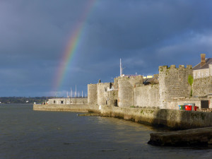 City walls at Caernarfon