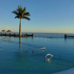 The unheated free-form pool at El Balcòn de Sta Ana