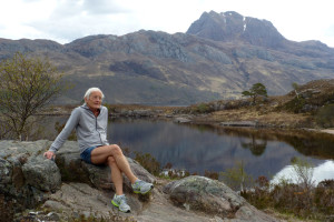 Jim beside Loch Maree, in the Northwest of Scotland
