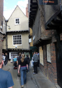 The quaint street called Little Shambles in York