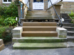 Putting new steps in place