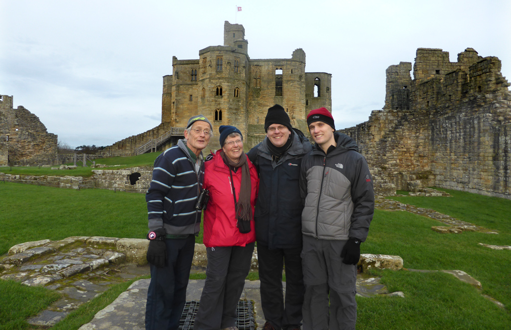 Group at Warkworth castle