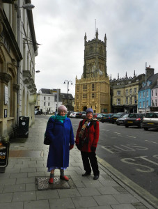 My sister and I were almost the only ones about on a bitterly cold day in Cirencester