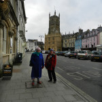 Cirencester's streets almost empty in a bitterly cold wind.